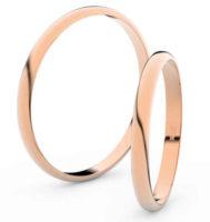 Levné snubní prsteny z růžového zlata