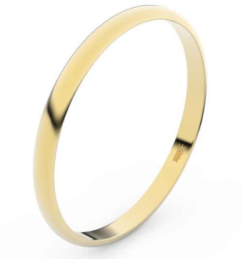 Levné snubní prsteny ze žlutého zlata