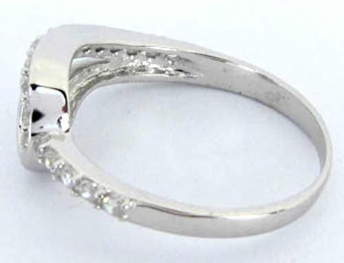 Dámské stříbrný prsten potažený rhodiem