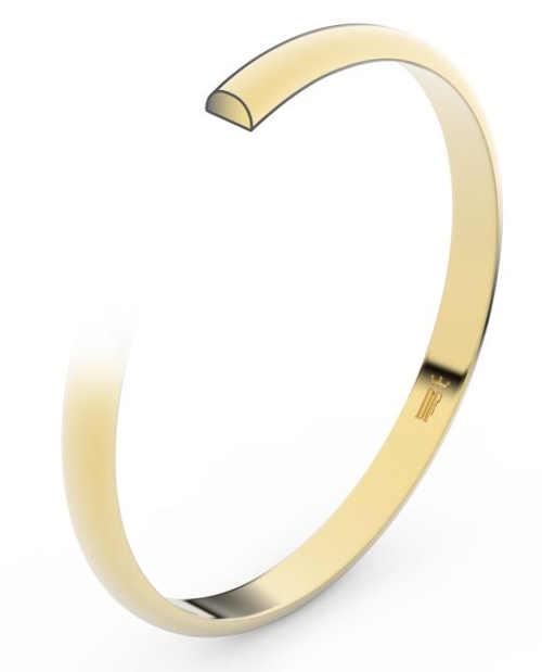 Oblíbený půlkulatý profil snubního prstenu