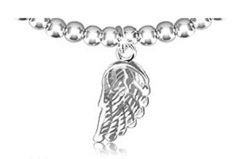 Stříbrný přívěsek s patinou andělské křídlo