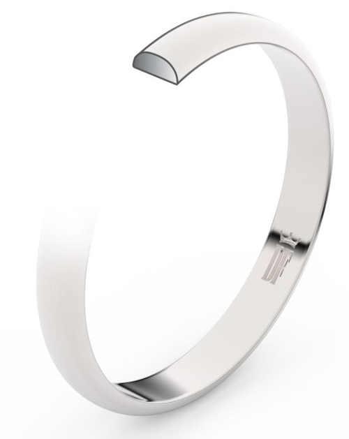 Širší snubní prsten z bílého zlata s možností osazení diamanty či zirkony