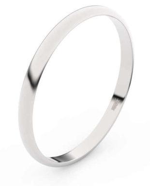Elegantní snubní prsteny z bílého zlata šířka 2 mm