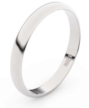Nádherné snubní prsteny z bílého zlata šířka 2,9 mm