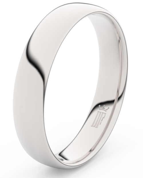 Pánský snubní prsten z bílého zlata široký 4,5 mm