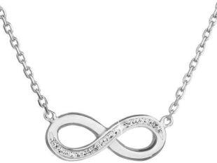 Stříbrný náhrdelník s krystaly Swarovski nekonečno