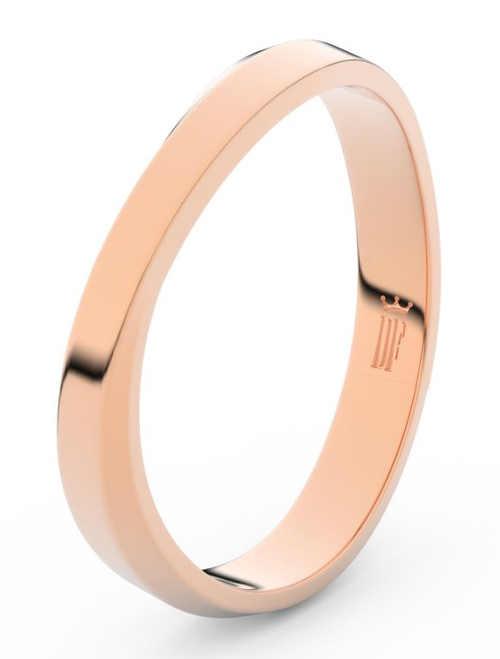 Asymetrický pánský snubní prsten z růžového zlata