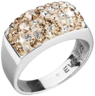 Dámský prsten Swarovski se zlatými krystaly