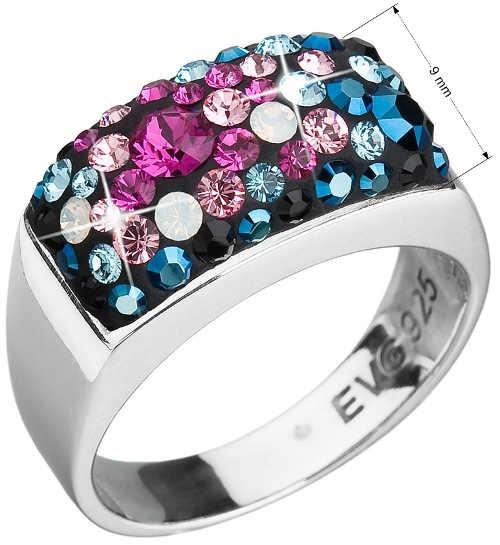 Široký dámský prsten Swarovski