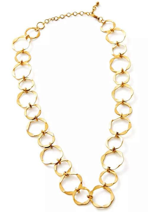 Řetízkový náhrdelník s velkými očky