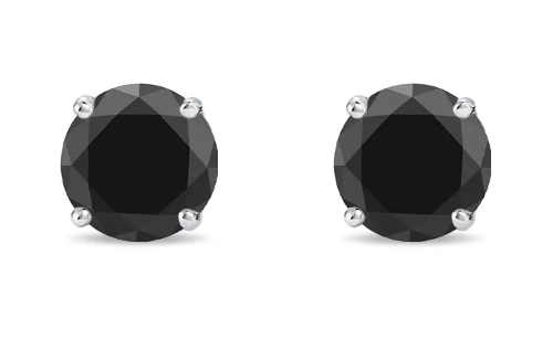 Luxusní dámské náušnice s diamantem černé barvy