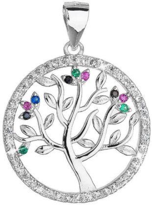 Přívěšek Strom života s barevnými zirkony
