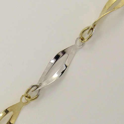 Náramek z bílého a žlutého zlata na krk i nohu