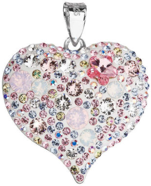 Přívěšek srdce s krystaly Swarovski