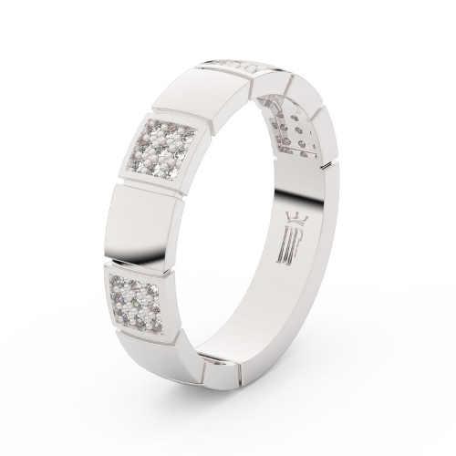 Prsteny snubní z bílého zlata se zirkony