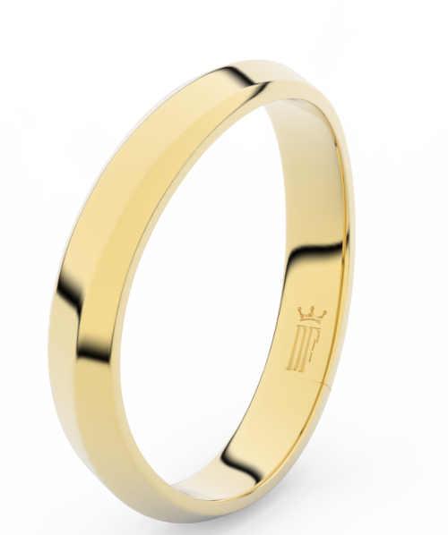 Snubní zlaté prsteny ozdobené zirkony