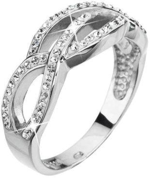 Stříbrný prsten s krystaly Swarovski