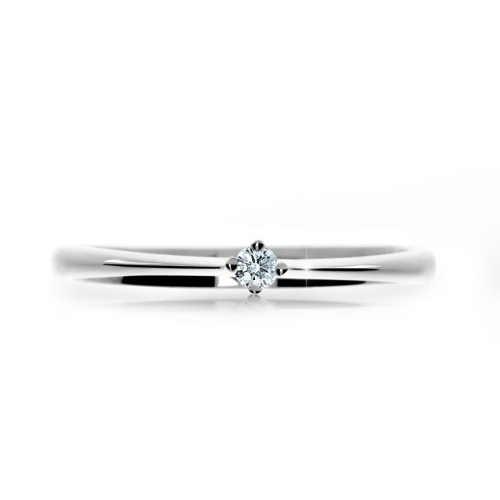Zásnubní prsten z bílého zlata