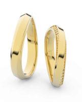 Zlaté snubní prsteny se zirkony