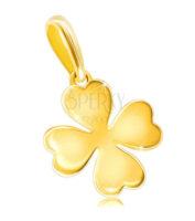 Zlatý přívěšek čtyřlístek nejen pro štěstí