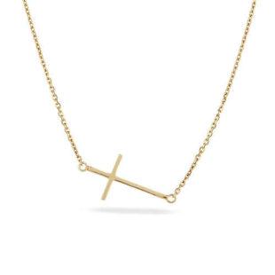 Dámský zlatý náhrdelník s křížkem