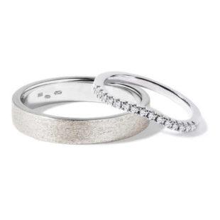 Diamantové snubní prsteny v bílém zlatě