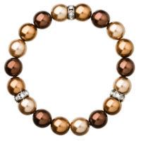 Moderní perlový náramek v hnědém provedení