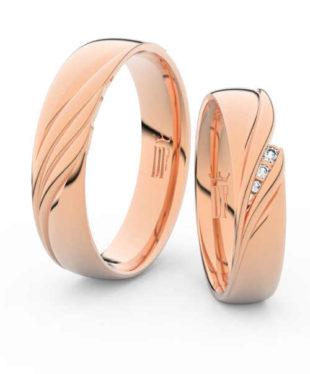 Snubní prsteny z růžového zlata