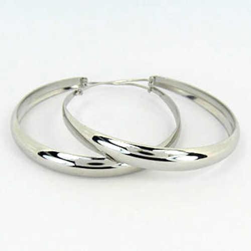 Stříbrné dámské náušnice kruhy