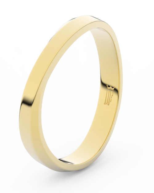 elegantní snubní prsten ze žlutého zlata