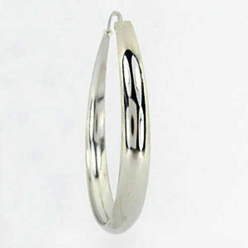 moderní náušnice kruhy ze stříbra