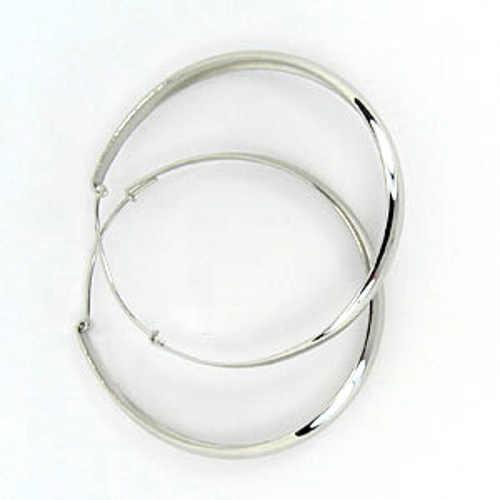 stříbrné kruhové náušnice dámské