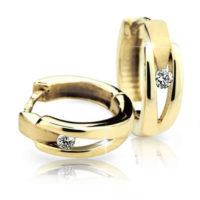 Dámské zlaté kruhové náušnice s brilianty