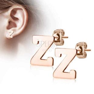 Ocelové náušnice ve tvaru písmene Z