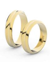 Snubní prsteny ze zlata v decentním provedení