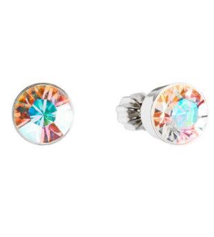 Stříbrné náušnice pecky s krystaly Swarovski