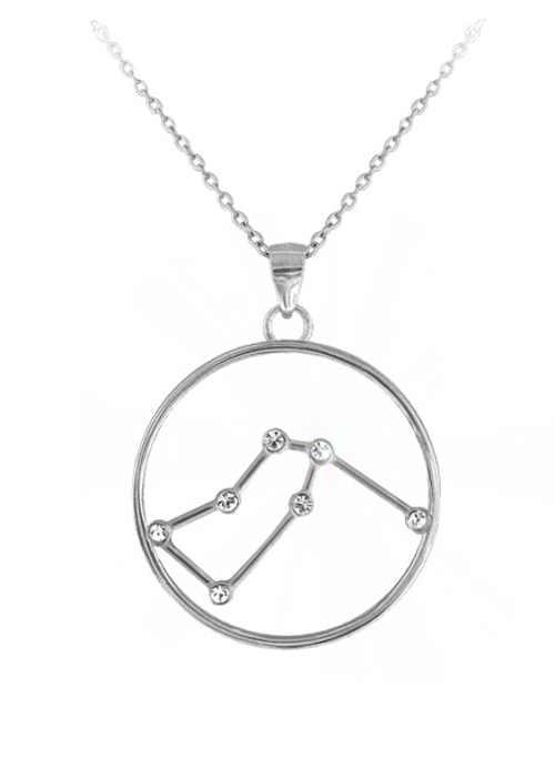 Stříbrný náhrdelník znamení Vodnáře