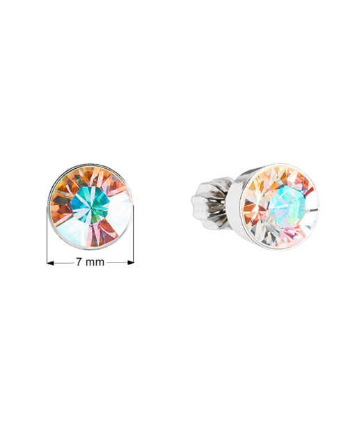 dámské náušnice pecky zdobené krystaly od Swarovski