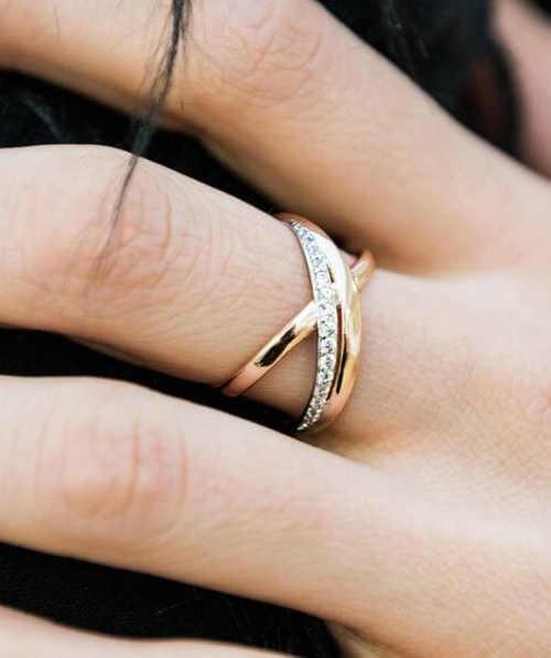 otevřený bicolor dámský prsten