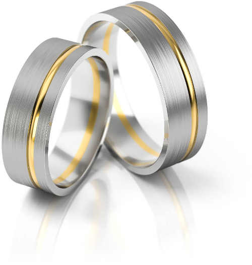 zlatý snubní prsten v jemném provedení