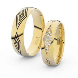 Snubní prsteny ze zlata v originálním provedení