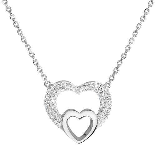 Stříbrný dámský náhrdelník s krystaly Swarovski