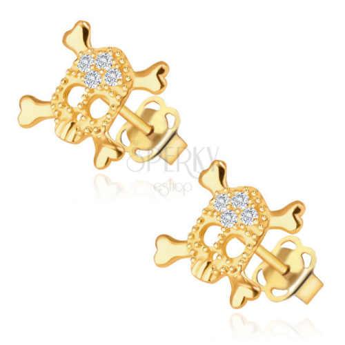 moderní dámské náušnice ze zlata s diamantem