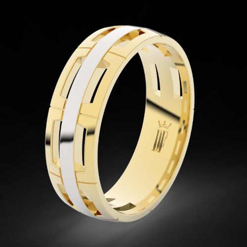 zlaté snubní prsteny s briliantem