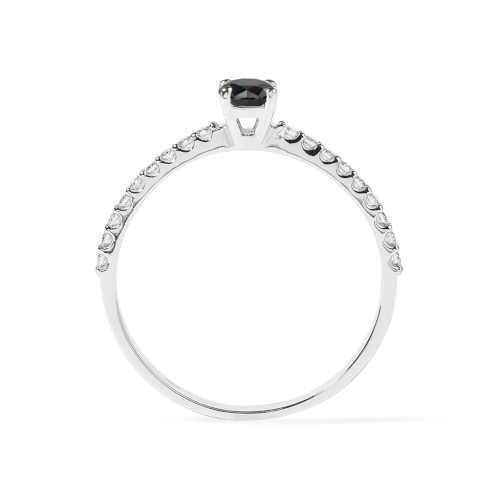 zlatý dámský prsten s diamantem