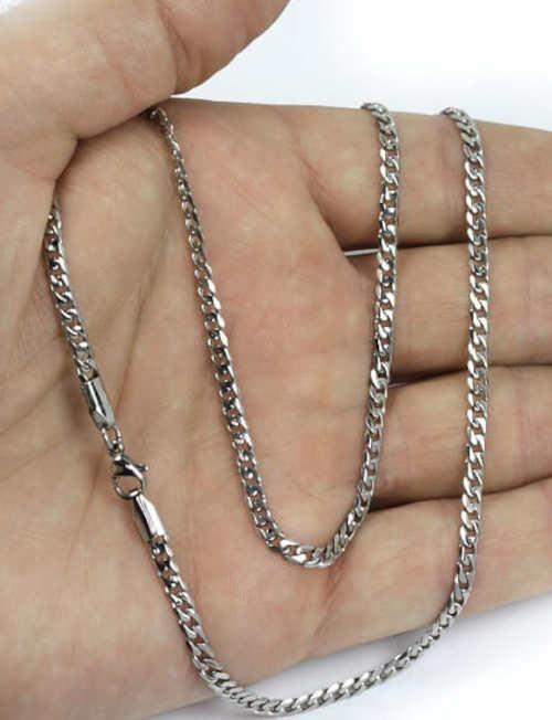 Jednoduchý pánský stříbrný řetízek na krk