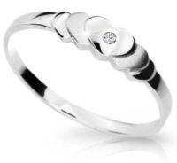 Elegantní zlatý prsten s briliantem Danfil Diamonds