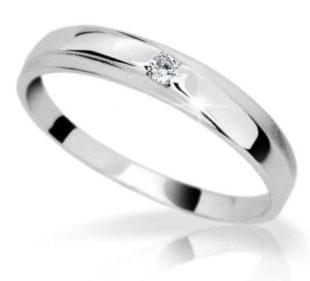 Krásný briliantový prsten z bílého zlata Danfil Diamonds