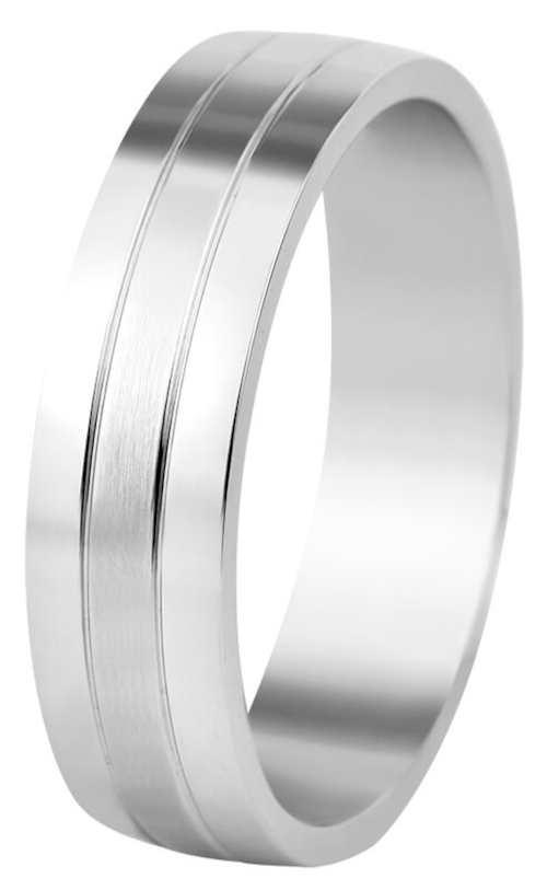 Levný pánský snubní prsten z oceli