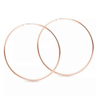 Dámské náušnice kruhy z růžového zlata